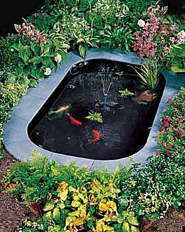 Build a backyard fish pond for koi or water gardens for Garden pond do you need a pump